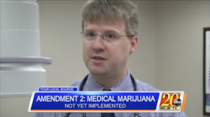 Dr. Stewart discusses Amendment 2 implementation on WCJB TV20 news.